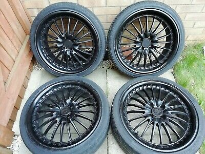 "Alloy Wheels 17"" 4x100 Matt Black With tyres"