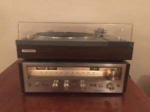 Pioneer PL-112D record player & SX-680 stereo receiver