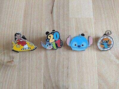 Disney 4 Pin Lot, Set of Stitch Pins Pocket Watch