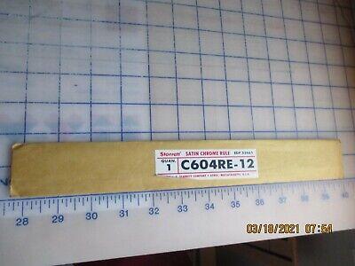 Starrett C604re-12 Spring Temp Steel Rule Winch Grads 4r Stylenew
