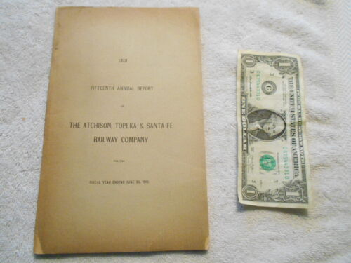 1910 The Atchison, Topeka & Santa Fe Railway Company Annual Report in good shape