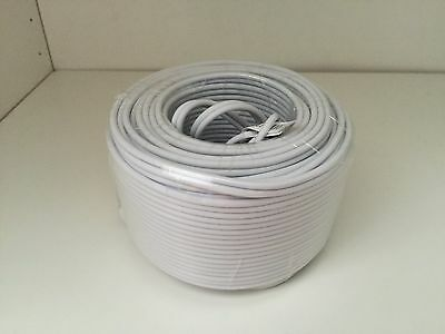 (Pack of 8) 60ft  Samsung HD BNC Cable for CCTV Surveillance Camera White