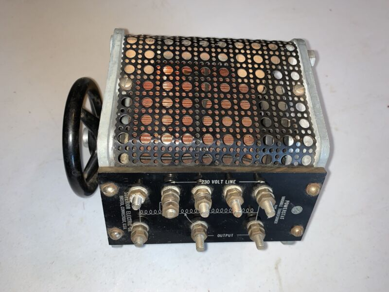 Powerstat Variable Transformer *Variac* Superior Electric. Type S649 230v 60~9a