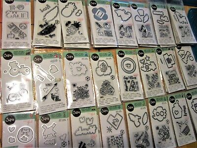 Acrylic Stamps - Little Sizzix Stamp & Framelits Die Set - Your Choice of 24 Different Sets! NEW!