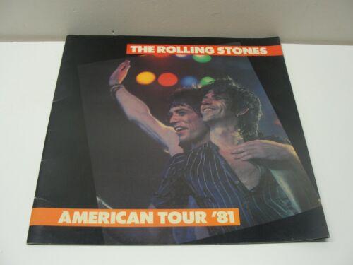 1981 THE ROLLING STONES AMERICAN TOUR PROGRAM