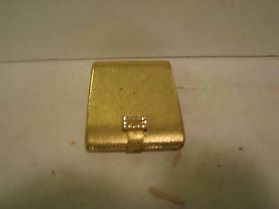 VINTAGE Max Factor Gold COLORED Pressed Powder Compact