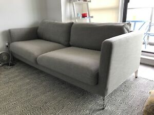 Structube Carine 3-Seater Couch Light Grey