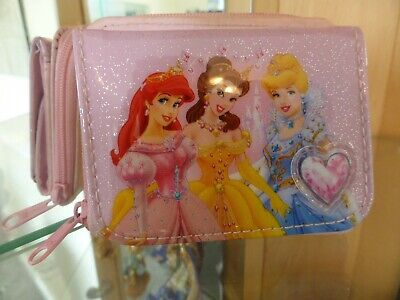Disney Princess Girls / Kids Coin Money Pouch / Purse / Wallet Pink Zip Key Ring for sale  Shipping to South Africa