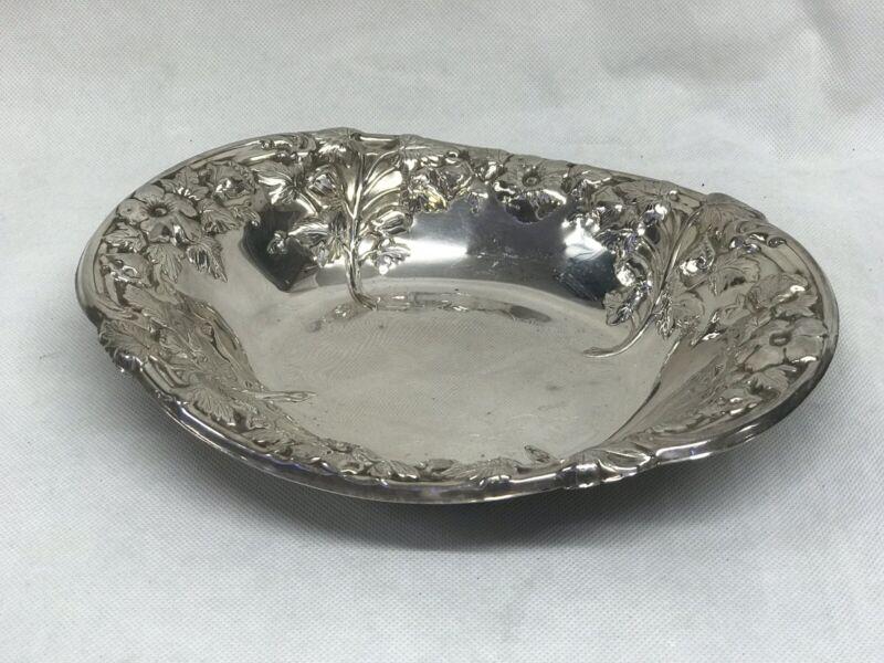 Silver Plate Grape Dish