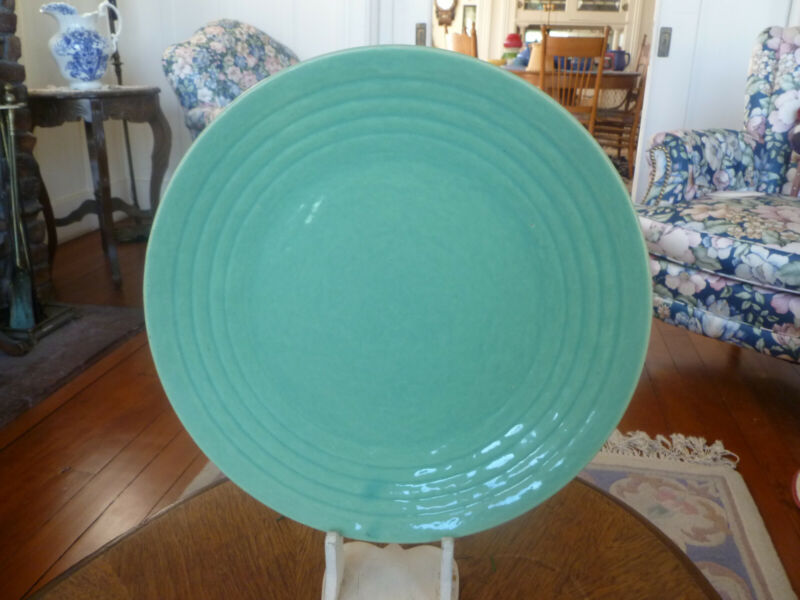 Vintage Bauer Pottery HARD TO FIND 10 1/2 inch Ring Ware Plates- Jade Green