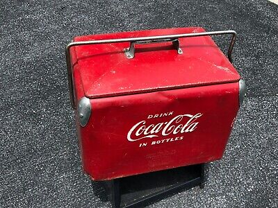 Vintage Coca-Cola Ice Chest circa 1950s Cooler with Bottle Opener