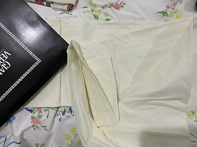 Versace Couture Italy NWT 1pc Queen Fitted Sheet 100% Cotton Ivory 14""