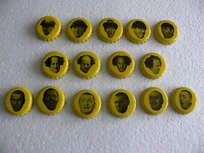 1999 Three Stooges Panther Beer Bottlecaps (Complete Set of 15) Very Rare! Nyuk!