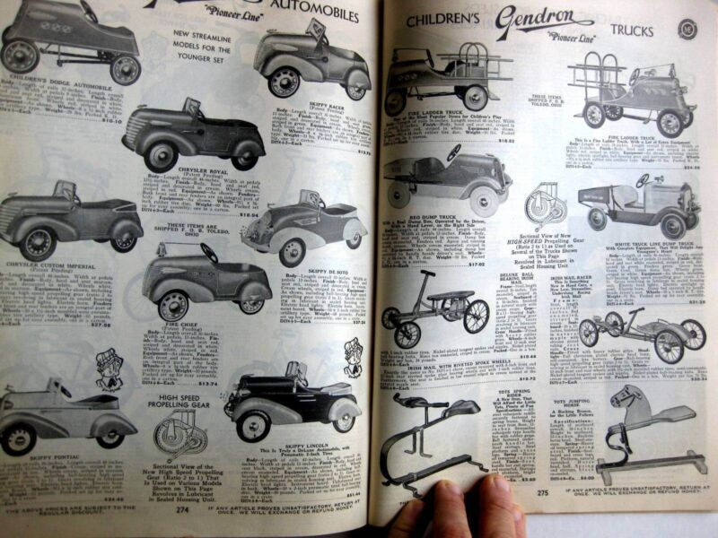 1937 Art Deco Era Merchandise Catalog 375 Pages Toys Jewelry Clothing Furniture Periods & Styles Catalogs