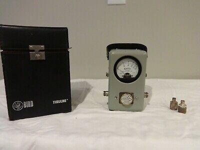 Bird Thruline wattmeter model 43 with case and 1 slug element