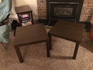 Square Brown End Tables