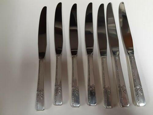 Prestige Plate by Oneida Grenoble lot of 7 dinner knives EUC polished