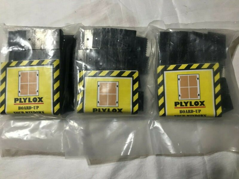 """PLYLOX Clips Lot of 3 Packs 20 Each, 1/2"""" Black Oxide Carbon Steel Sealed Bags"""