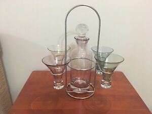 Wine glasses, candle holders, wine rack, miscellaneous stuff
