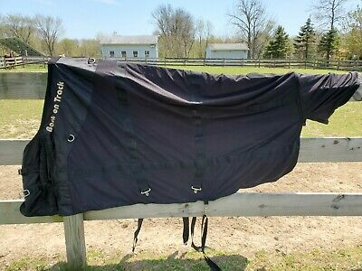 "75"" BACK ON TRACK THERAPEUTIC HORSE MESH RUG BLANKET SHEET BLACK"