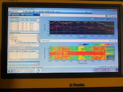 Netscout AirMagnet Spectrum XT 3.01 W/ Fluke USB 2.4 4.9 5 GHz Wi-Fi Analyzer