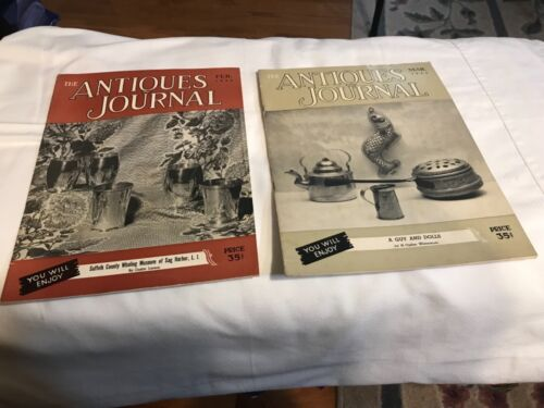 Vintage Antiques Journal Magazines /1953/ TWO Total