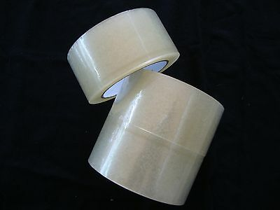3 Roll Clear Shipping Packing Carton Sealing Tape 2 Mill 2
