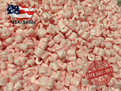 Packing Peanuts Shipping Anti Static Loose Fill 60 Gallons 8 Cubic Feet Pink