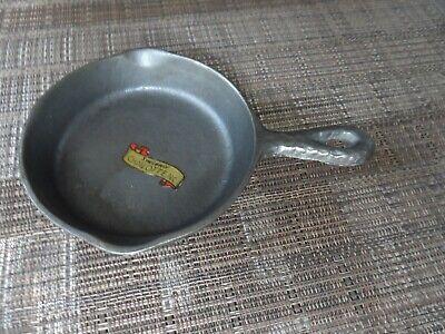 Vintage Miniature Cast Iron Frying Pan Hammered Exterior Souvenir Charlotte NC