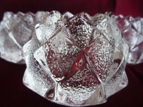 ORREFORS GLASS SWEDEN FIREFLY/NIMBUS BERIT JOHANSSON DESIGN LOT OF FOUR! CANDLEH