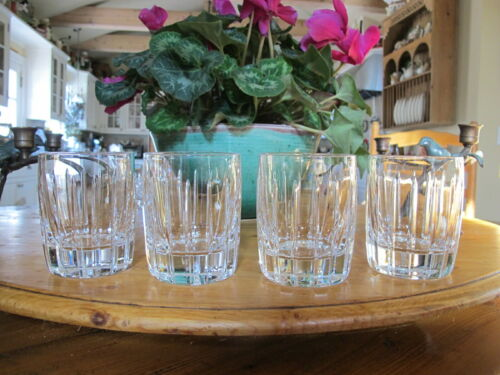 """Lenox """"Starfire"""" Crystal Old Fashion Glasses. Set of 4. 4"""" Tall. Excellent ."""