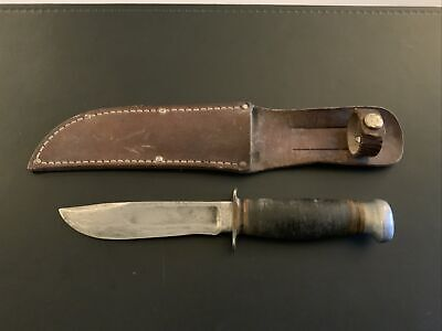Vintage Marbles Gladstone Michigan USA Fixed Blade Knife Hunting Skinning