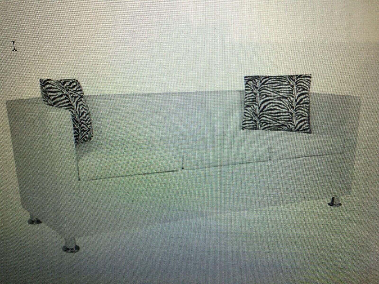 vidaXL Sofa 3-Sitzer Luxus Loungesofa Couch Sitzmöbel Schwarz/Weiß