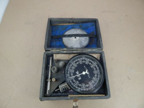 vintage Machinists Engineers JONES MOTROLA TACHOMETER w/box & accessories NAVY?