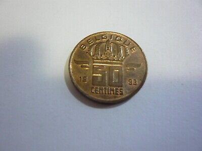 50 centimes belgique pièce - belgie munt 1993