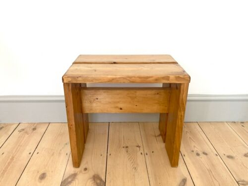 Stool / Side table / Small bench by Charlotte Perriand for Les Arcs. Mid century