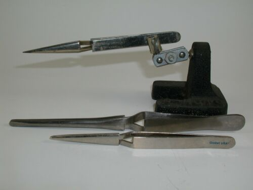 X-ACTO Clamp Stand with 3 Clamps for Soldering and Hobbies / used
