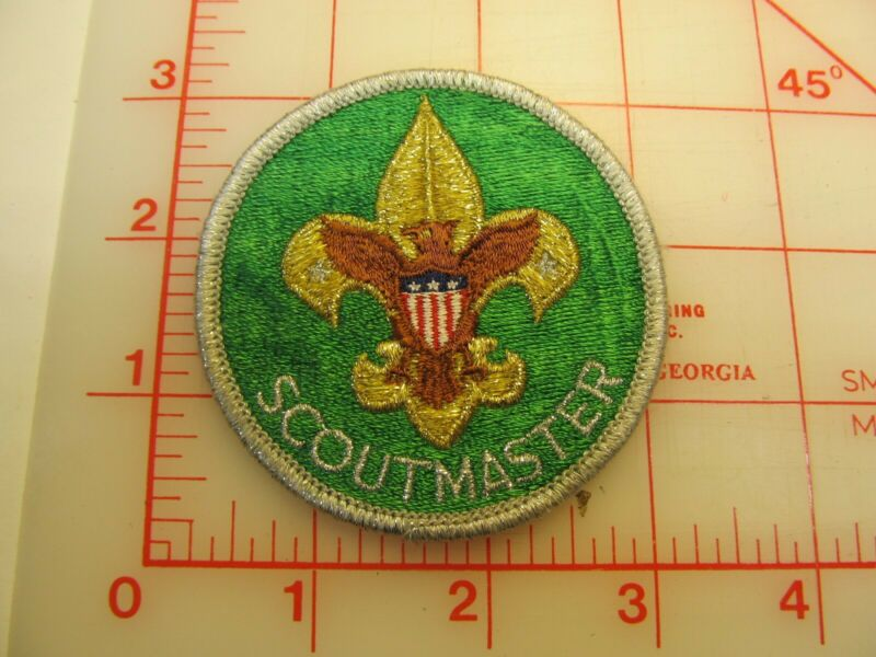 Trained SCOUTMASTER smy border collectible patch (y39)