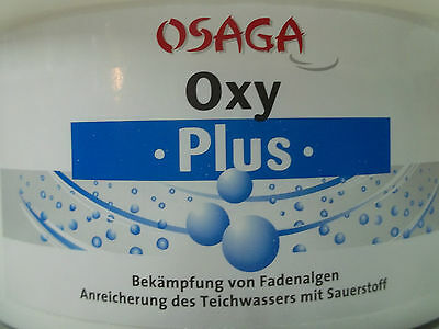 3 Kg Osaga Fadenalgen Oxy-Plus -Max 75.000 Liter Algen Koi  Fadenalgenvernichter