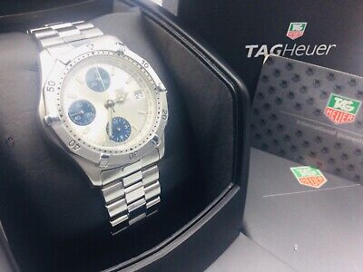 Tag Heuer '2000' Men's Automatic Chronograph Watch - Box & Papers - CK2112