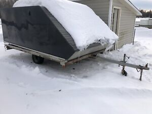 Northtrail 12 foot enclosed snowmobile trailer