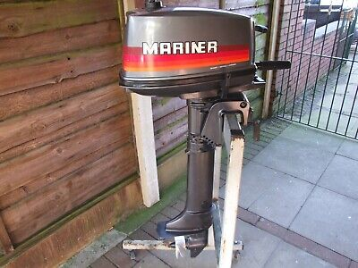 BOAT OUTBOARD ENGINE MARINER 4hp LONGSHAFT  TWO STROKE  SERVICED