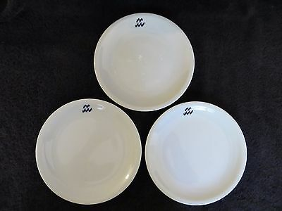 "Bauscher Weiden  China  Germany LOT 3 Plates (Blue wave) 7 1/2"" Bavaria   EC"