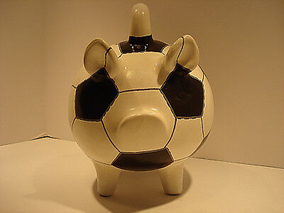 Soccar Ball Piggy Bank Handpainted Yucatan - Soccar Ball