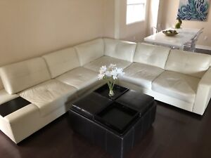 Large corner leather couch