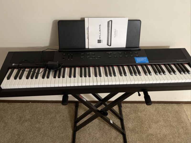 Williams Allegro III Digital Piano Black 88 Key With Stand