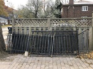 Wrought Iron Fencing - Multiple Sections