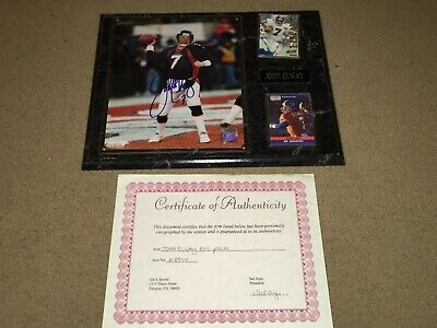 JOHN ELWAY #7 DENVER BRONCOS AUTOGRAPHED PICTURE PLAQUE NFL FOOTBALL John Elway Signed Photograph