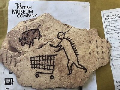 Banksy Peckham Rock Art Print on Wood Sculpture from British Museum