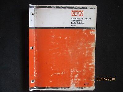 Case Models 430-530 470-570 Draft-o-matic Tractors Parts Catalog Manual Oem
